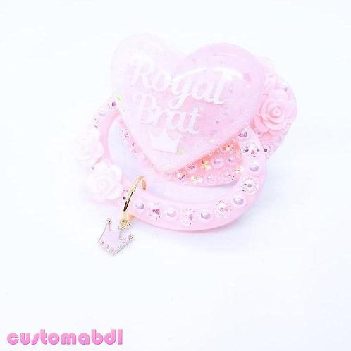 Royal Brat Heart w/Charm - Pink