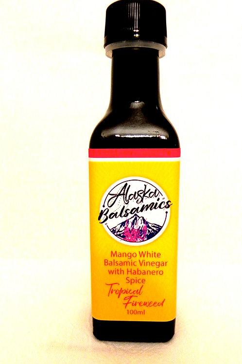 Tropical Fireweed 100 ml- Mango White Balsamic Vinegar with Habanero Spice