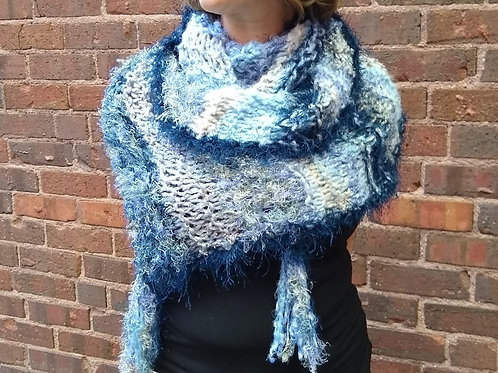 Infinity Scarf Blue multi