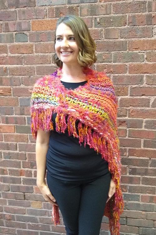 Coral shawl/cape