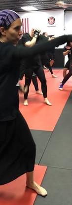 At Legion's self-defense class, a woman