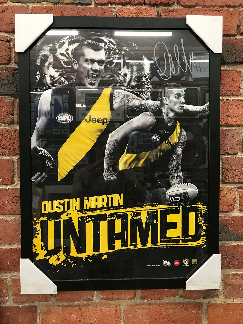 Dustin Martin Untamed Richmond Football Club Framed Print | RTSSG  Memorabilia