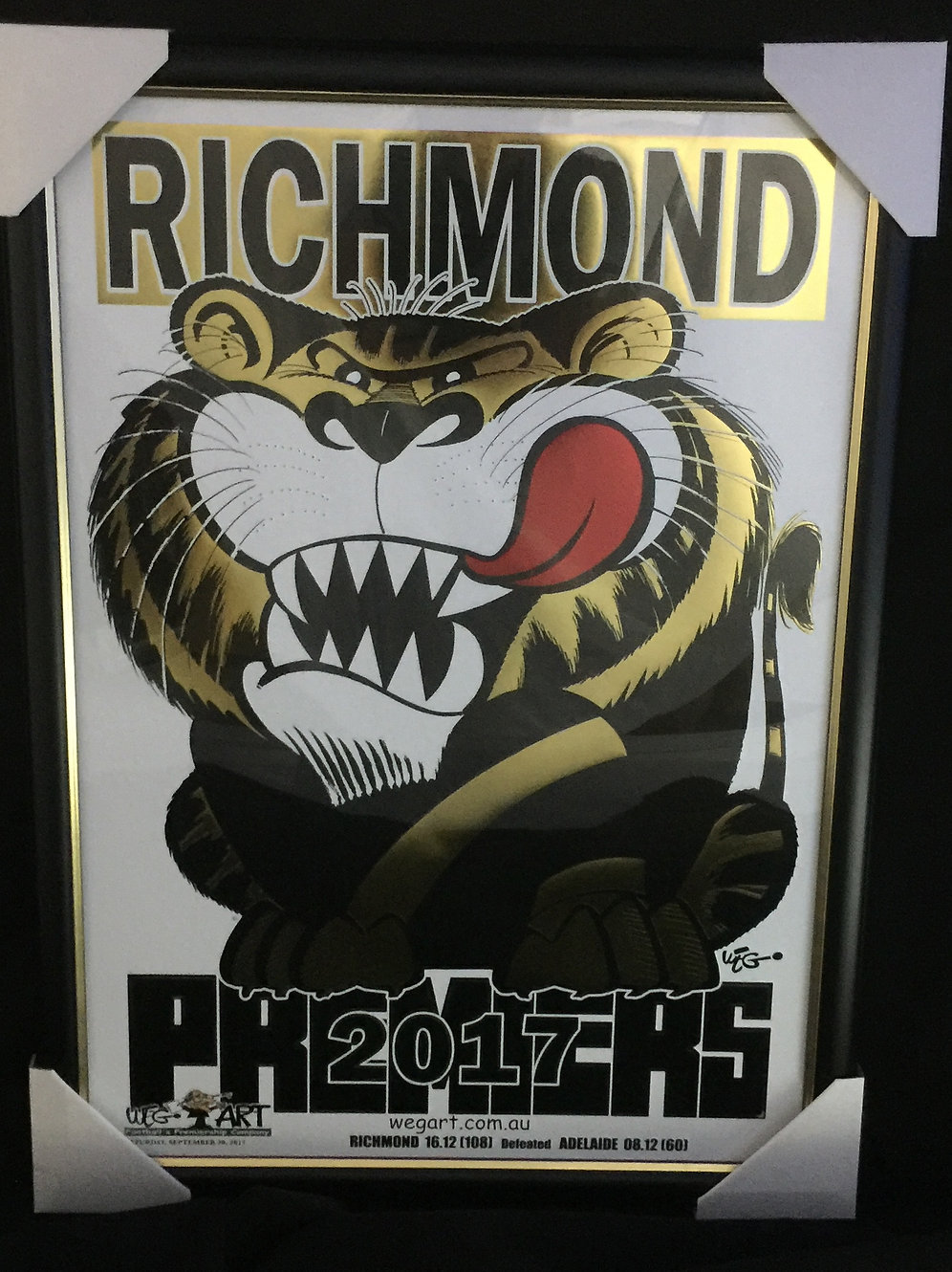Weg Gold Foil Richmond Football Club Premiership Framed Print