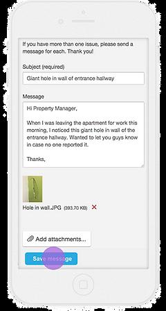 Resident portal maintenance request