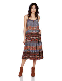 Lucky Brand - Mixed Print Dress Multi