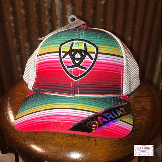 ARIAT Women's Serape Center Shield Mesh Snap Cap, Multi One Size