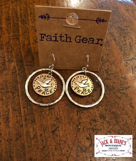 Faith Gear Women's Earrings Peace