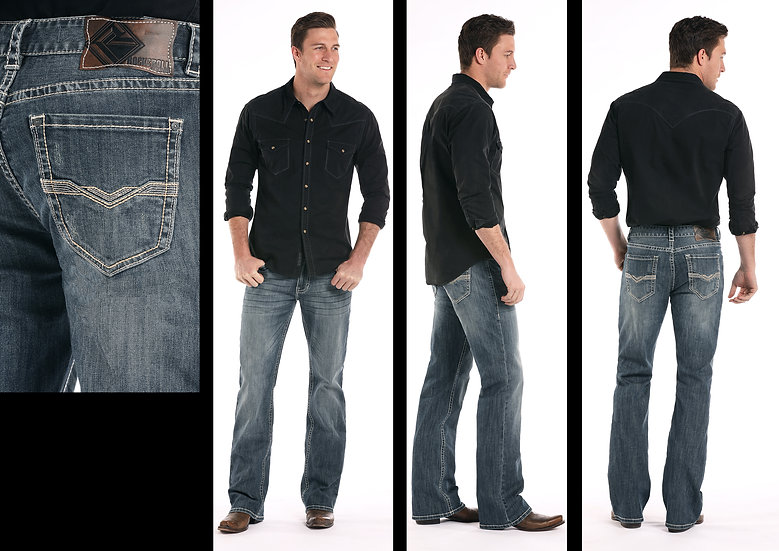 ROCK & ROLL COWBOY DOUBLE BARREL BOOT CUT JEANS