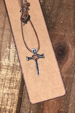 kerusso Faith Gear Nail Cross Necklace