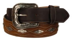 B37 - RockinLeather Crazy Tan Cowhide Leather Belt