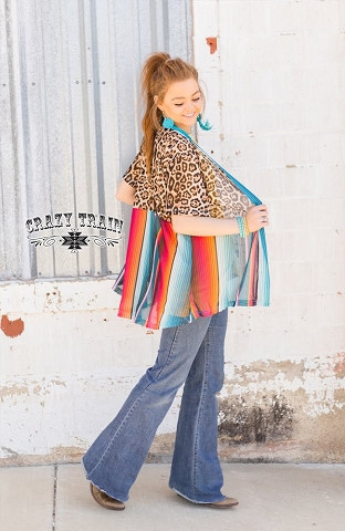 1fa6e14d86153b Crazy Train Serape Honey Wine Cardigan