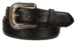 B33 - RockinLeather Black Bullhide Leather Belt