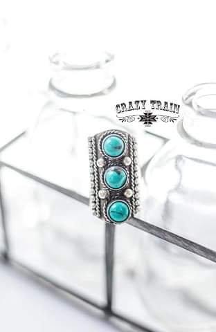 Crazy Train Turquoise Penelope Ring Slide