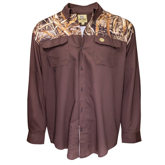 HEYBO Outfitter Shirt Long Sleeve Max 5 Chocolate