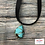 Thumbnail: Choker Style Black Strap Necklace with Turquoise Stone