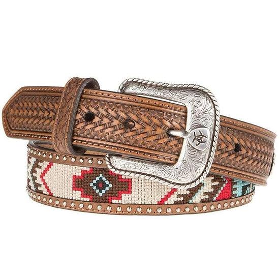 Mens Ariat Aztec Beads Belt