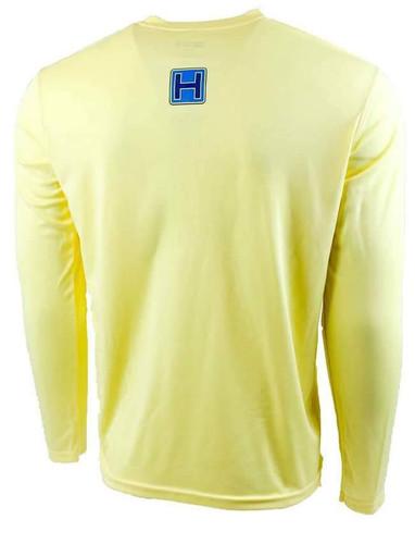 ac96ffbc7 HEYBO Blue Tunaflage Pale Yellow Performance Shirt