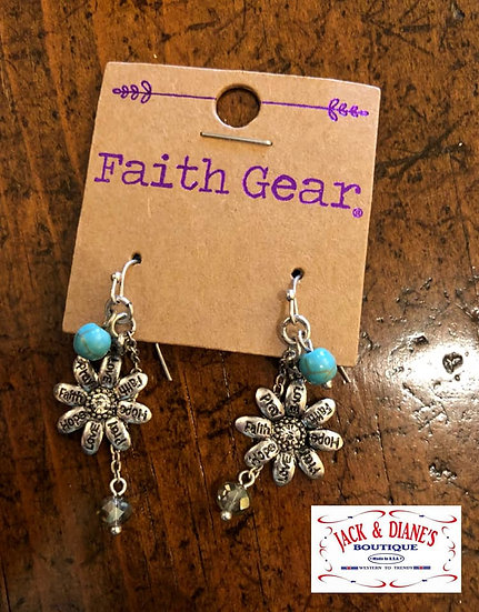 Faith Gear Women's Earrings Flowers