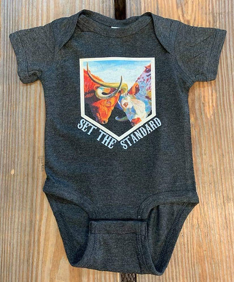 Kids Set The Standard Western Graphic Onesie