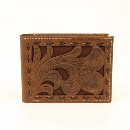 Nocona Floral Chocolate Underlay Bi-Fold Wallet