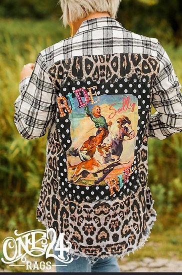Ride Sally Ride Silk Back Long Sleeve Shirt