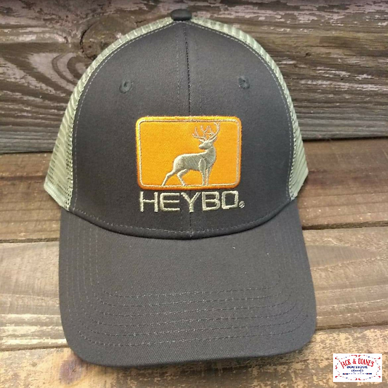 HEYBO Deer Patch Youth Trucker style Mesh Back adjustable