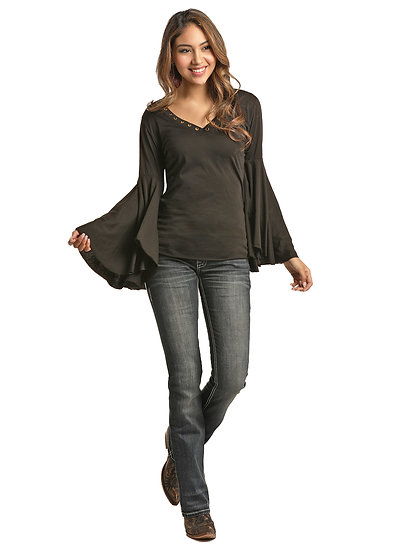 ROCK & ROLL COWGIRL EXAGGERATED BELL SLEEVE