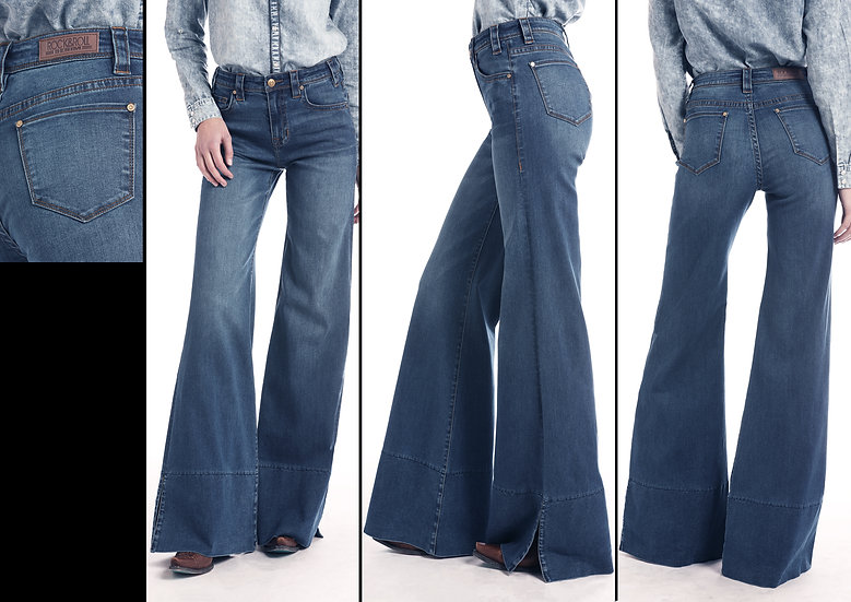 Rock & Roll Cowgirl High Rise Flare Jeans