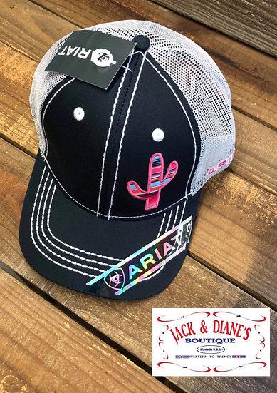 Ariat Women's Navy Serape Cactus Mesh Back Cap