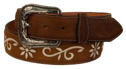 B28 - RockinLeather Crazy Tan Cowhide Leather Belt
