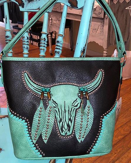 Montana West Black and Turqouise Concealed Handgun Handbag