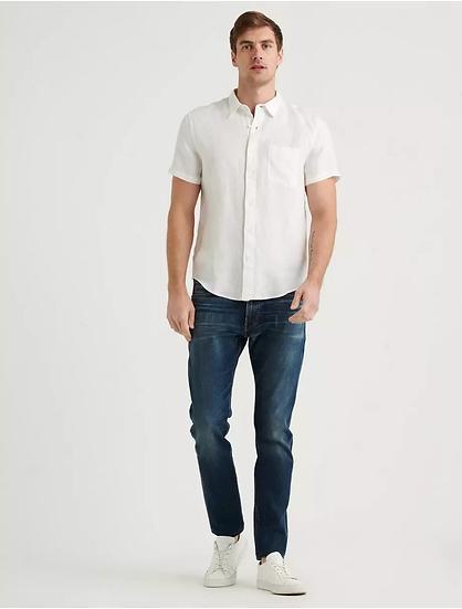 LUCKY BRAND Linen Short Sleeve San Gabriel Shirt