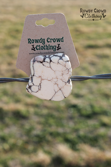 Rowdy Crowd White Water Tee Clip or Scarf Slider