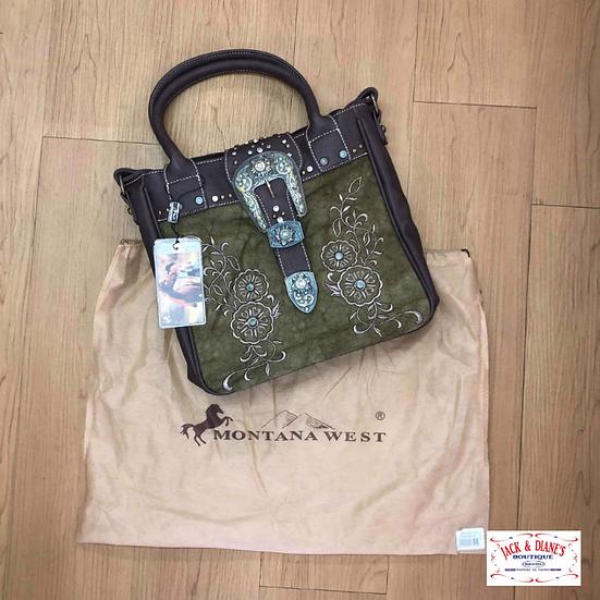 Montana West U.S.A. Buckle Collection Handbag