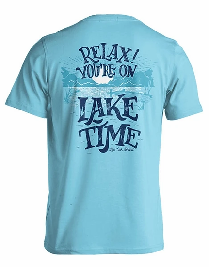 Live Oak Relax You're on Lake Time Pocket Short Sleeve Tee