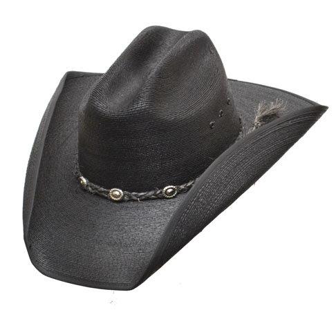 Western Express Black Cattleman Palm Hat