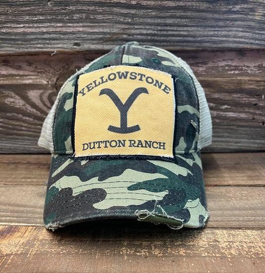 Yellowstone Dutton Ranch Camo Trucker Cap