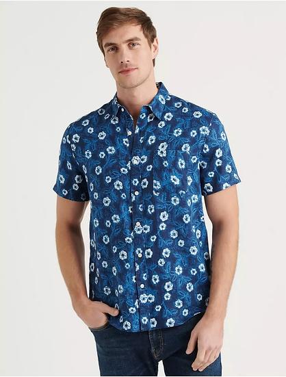 Lucky Brand Short Sleeve San Gabriel Shirt