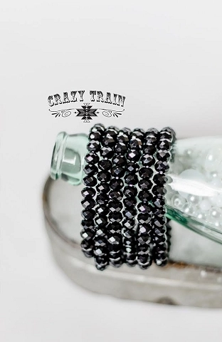 Crazy Train Midnight Black Bracelet