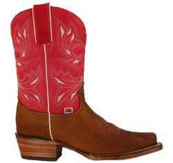 2144 - RockinLeather Womens Short Pink Western Boot With Narrow Square Toe - ***