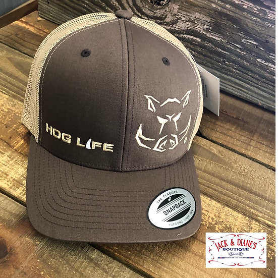 OUTDOOR CREW Hog Life Backwoods Mesh Back Snap Closure