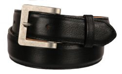 B45 - RockinLeather Black Cowhide Leather Belt