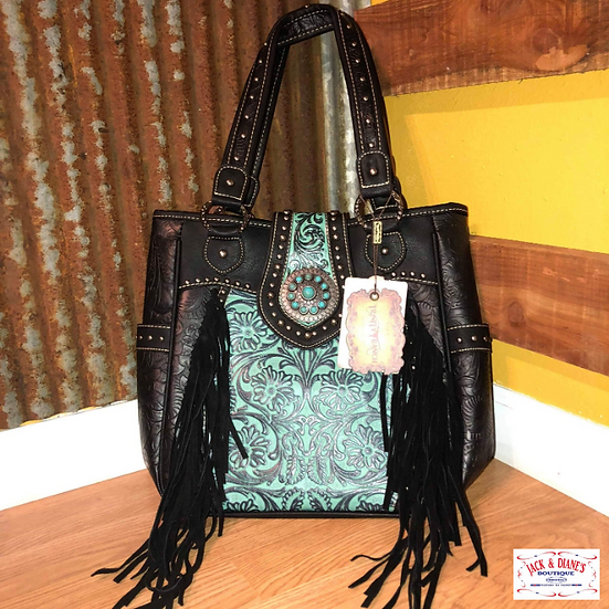 Montana West U.S.A. A Trinity Ranch Tooled Design Concealed Handbag Collection