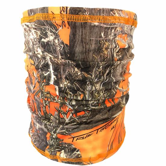 Made in the USA Bani Bands Multifunction Gaiter Headband Orange True Timber Camo