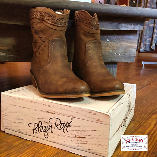 BLAZIN ROXX Short Brown Boot
