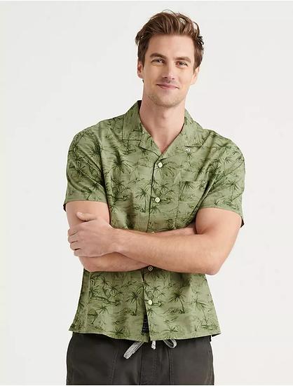 Lucky Brand Club Collar Short Sleeve Shirt