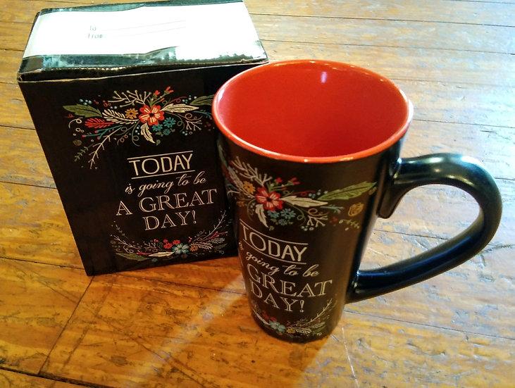 Philippians 4:4 'Great Day' Tall Mug