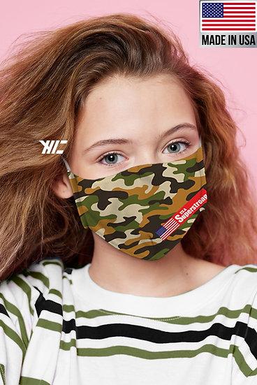 Kids Camouflage Designed Washable Mask Variety