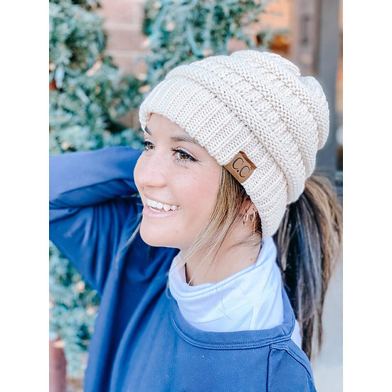 C.C Criss-Cross Knit Beanie