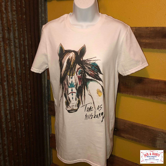 """The Coyote Cowgirl """"Mustang"""" Short Sleeve Tee"""